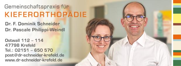 Kieferorthopädische Praxis in Krefeld | Dr. med. dent. F. Dominik Schneider & Dr. med. dent. Pascale Philippi-Weindl (Bild)