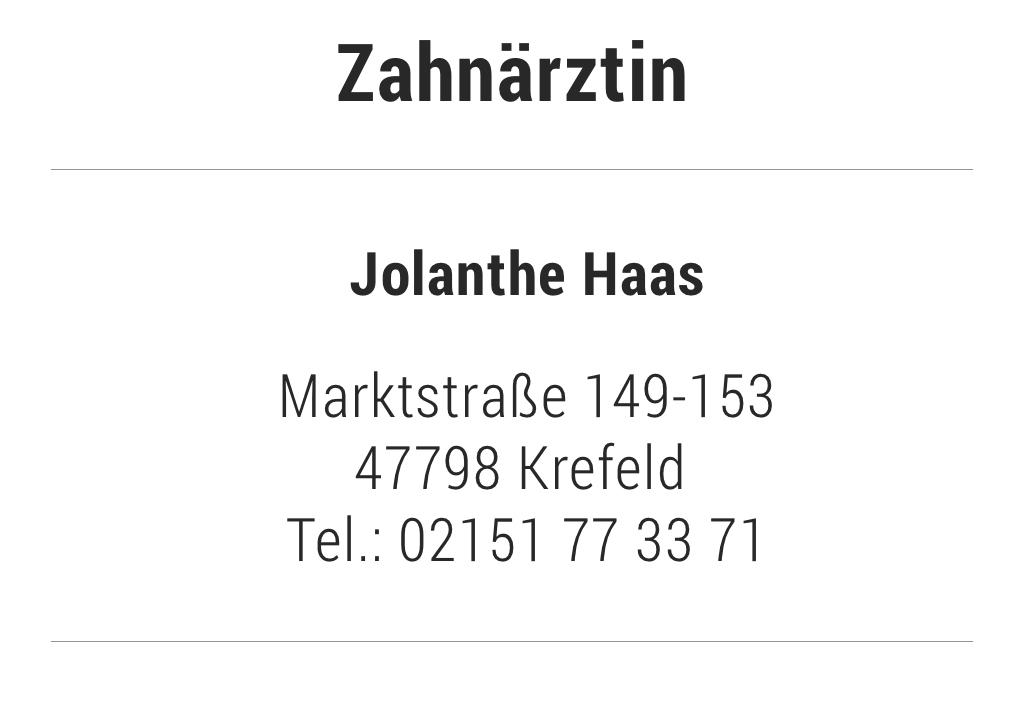 Zahnärztin Jolanthe Haas