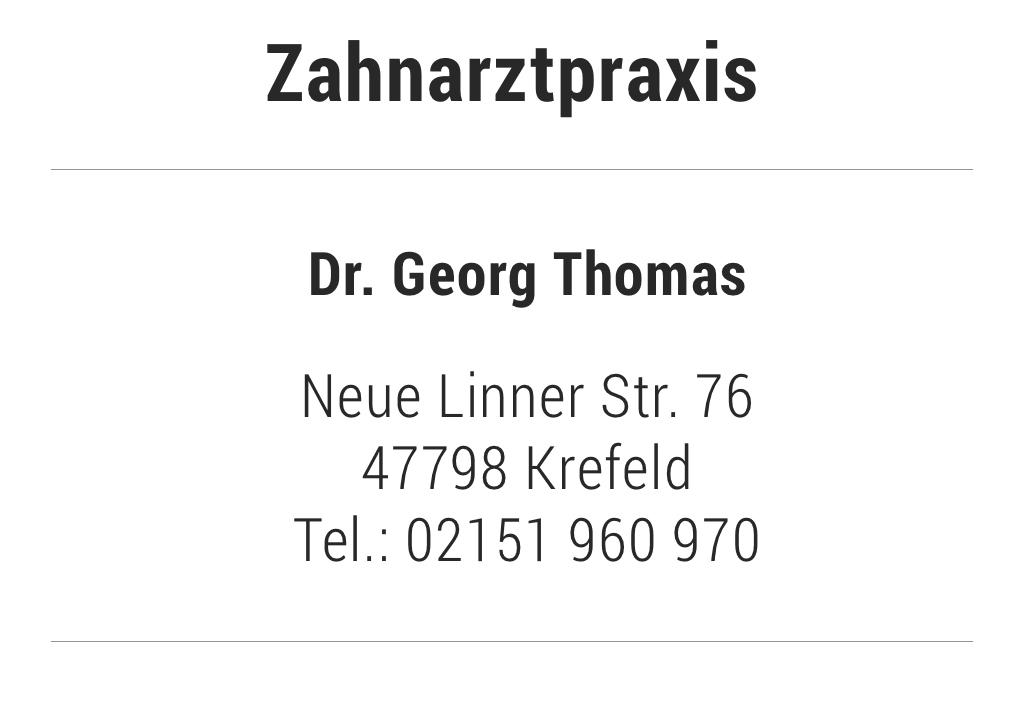 Zahnarztpraxis Dr. Georg Thomas